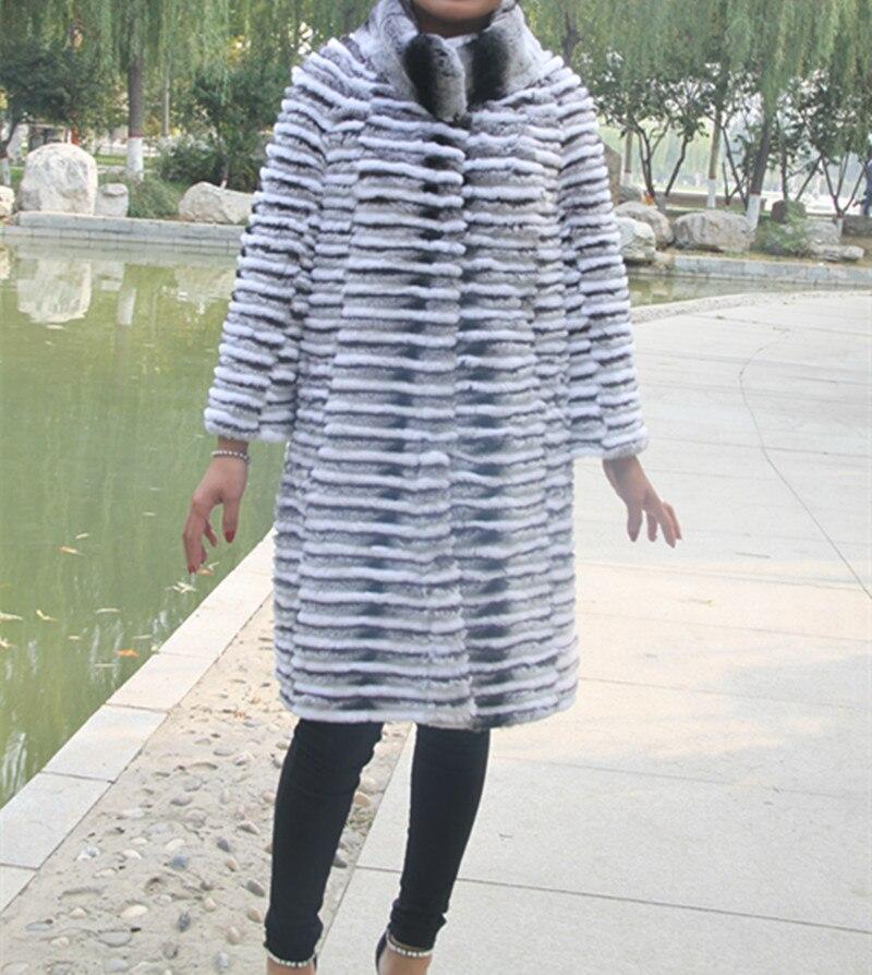 Hot Sale New Spring Women Genuine Silver Fox Fur Coats Jackets Natural Fur Waistcoats Women's Fur Fashion Striped Style