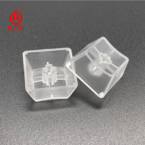 Image 2 - Kailh Low Profile Keycaps for box 1350 chocolate switch translucent white black color gaming DIY mechanical keyboard keycaps
