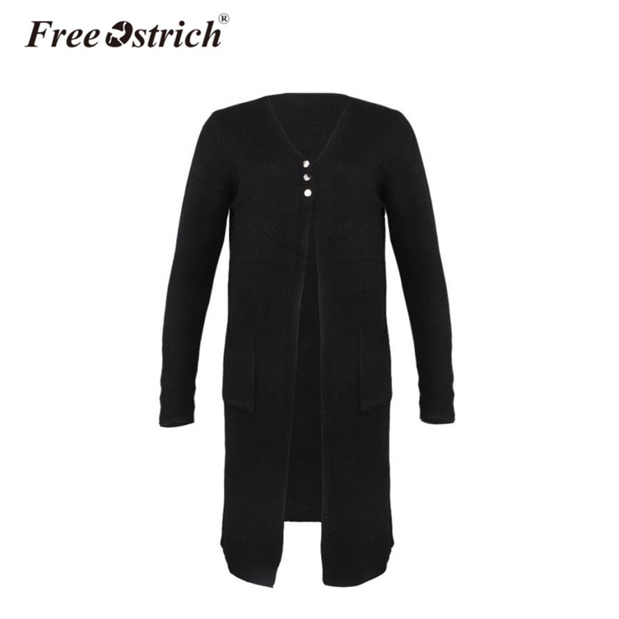 Free Ostrich Autumn Cardigan Long Sweater Women High Street Pull Femme Oversized Sweater Coat Knitted Coat Oct2332