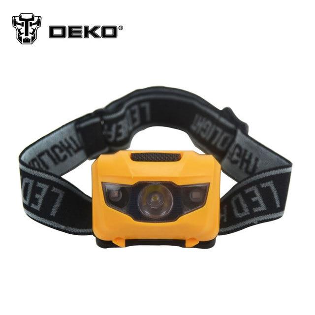 DEKO Mini 4 Mode Waterproof 1200Lm CREE R3 2 LED Flashlight Super Bright Headlight Headlamp Torch Lanterna with Headband