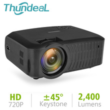 ThundeaL T23 T23K Mini Projector Native 1280*720 HD LED Video Theater Portable 2400 Lumen Beamer T4 USB HDMI 3D Micro Projector