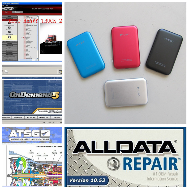2017 Alldata Auto Repair Software v10.53 all data and mitchell software 2015 (161g)+ ATSG+ Moto Heavy Truck 4in1tb hdd