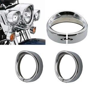 "Image 1 - חדש אופנוע כרום 7 ""אינץ פנס Trim טבעת מגן סגנון מתאים להארלי סיור כביש המלך אלקטרה Glide Softail FLD/FLH"