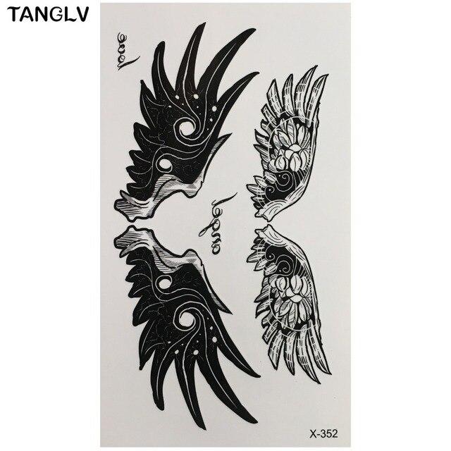 1 St Hot Grote Angel Wing Tattoo Mouwen Terug Art Tijdelijke Tattoo