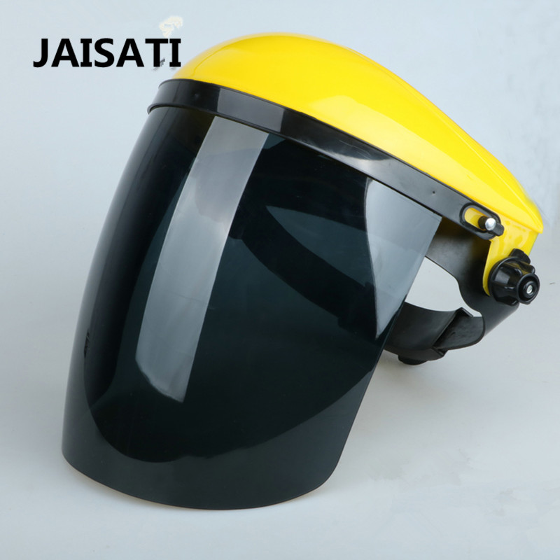 JAISATI Transparent anti-fume protective mask k grinding anti-dust electric welding headgear cooking anti-splash mask jaisati transparent dust proof welding hood headset mask abor protection protection surface screen splash mask