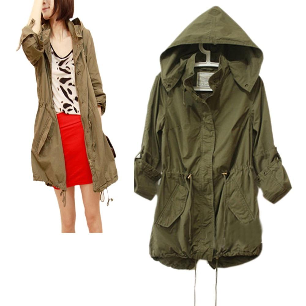 2017 astrid женщины куртка осень толстовка с капюшоном шнурок army военный камуфляж куртка пальто перемычка капюшоном ветровка женская бур плащ