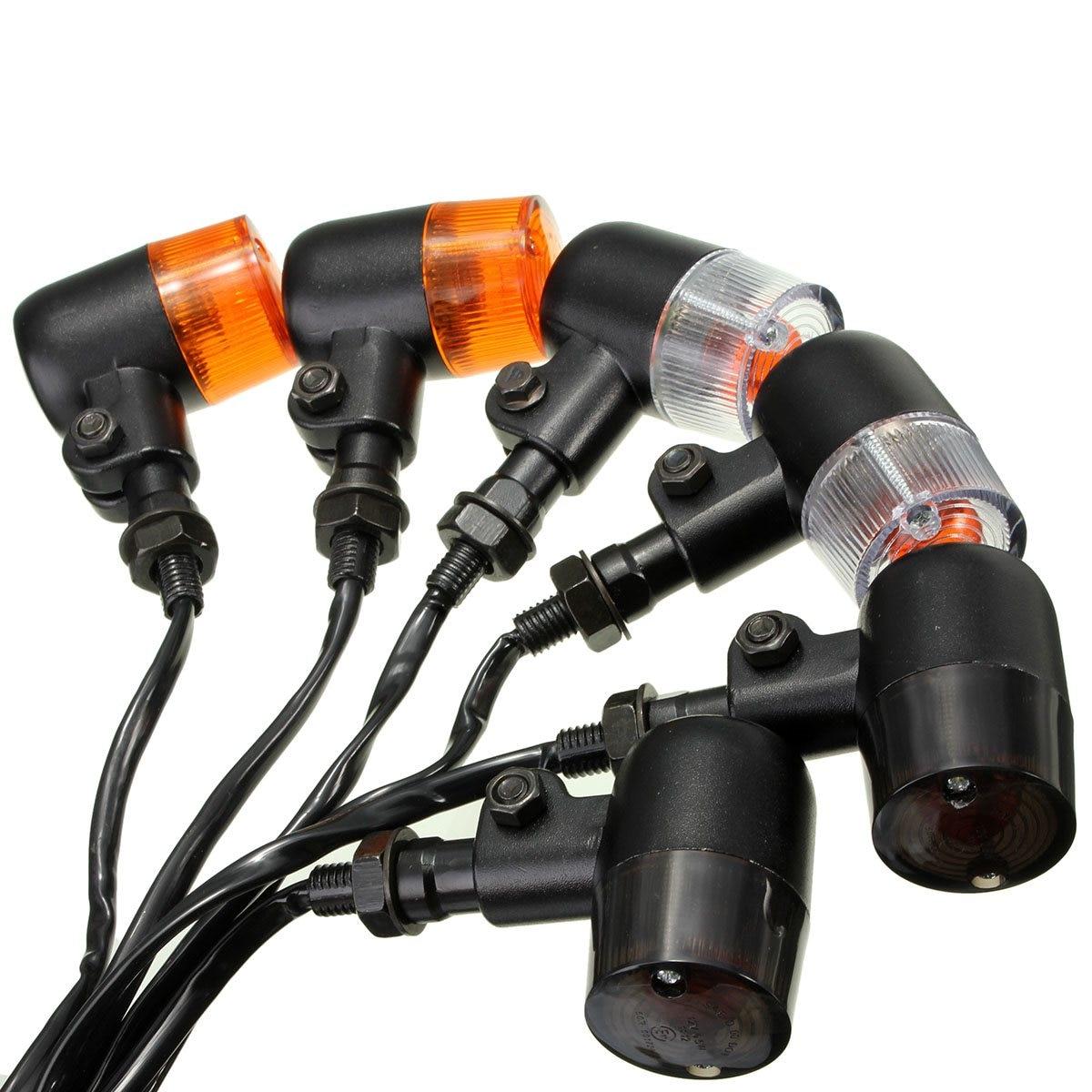 2PCS 12V Motorcycle Turn Signal Indicators Amber Light Lamp For Honda /Yamaha /Suzuki
