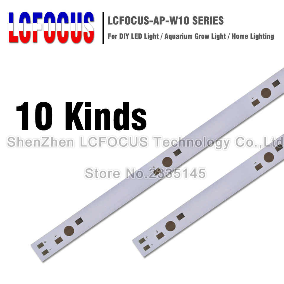 10pcs 1W 3W 5W LED Aluminum Base Plate 130mm 150mm 300mm 500mm PCB Board DIY For 5 6 15 36 60 180W Watt High Power Light Beads