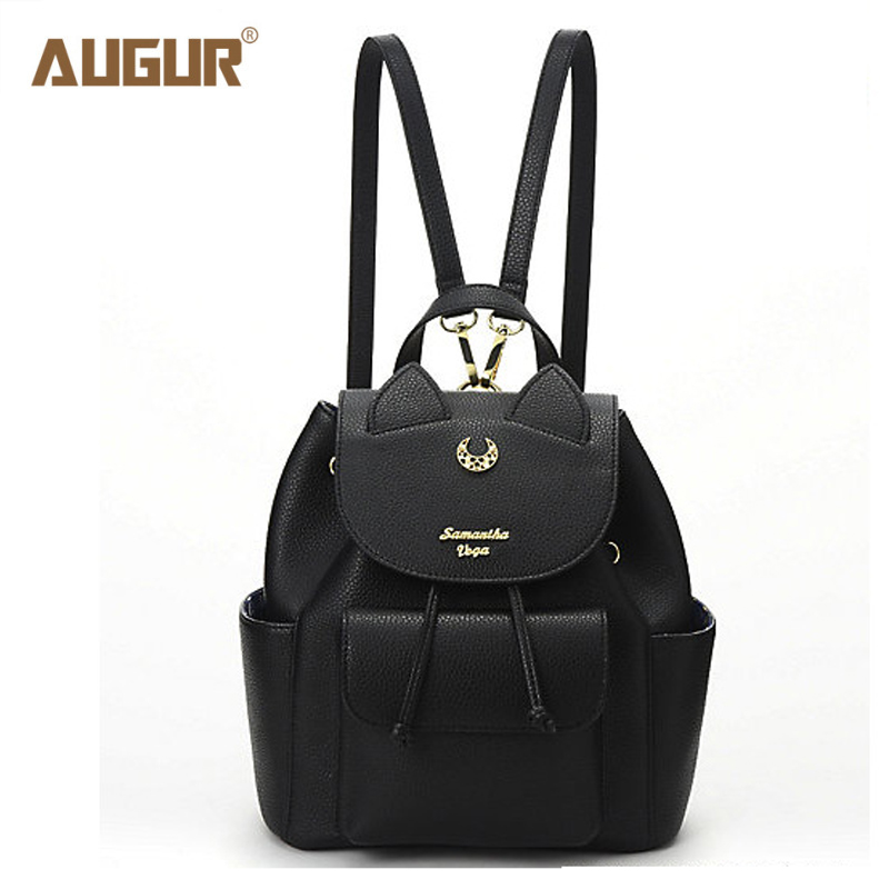 AUGUR Sailor Moon Bag Samantha Vega Backpack Women Famous Brands PU Leather Women Fashion Daypacks High Quality Shoulder Bags
