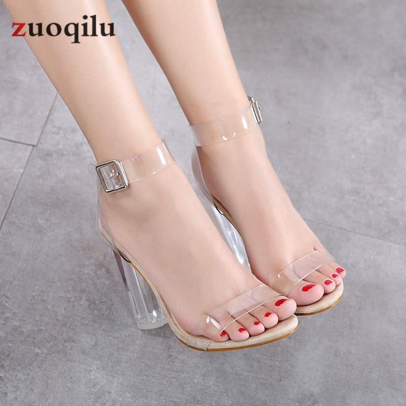 Sandales en gelée de pvc transparent à bout ouvert talons hauts pompes femmes chaussures dames chaussures de fête talons chaussures de mariage talon femme