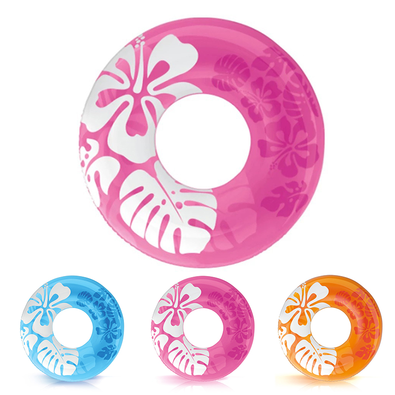 Летние узор сплошной цвет надувной бассейн понтон плавательный кольцо