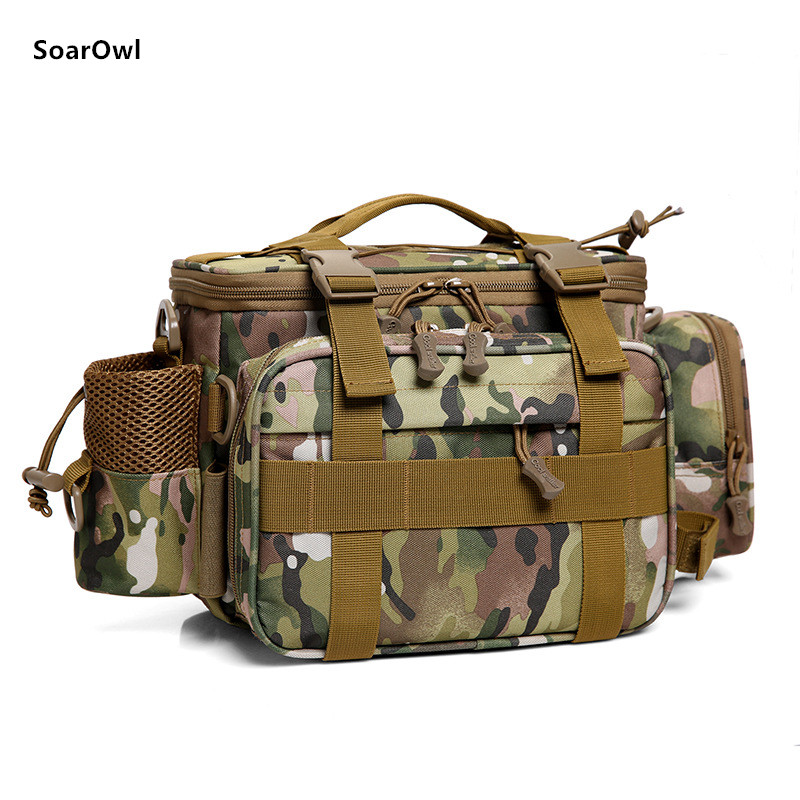 Image 4 - Multifunctional Shoulder Bag Fishing Gear Fishing Bag Waterproof Bag Outdoor Tactical Mountaineering Backpack Portable nylon-in Fishing Bags from Sports & Entertainment