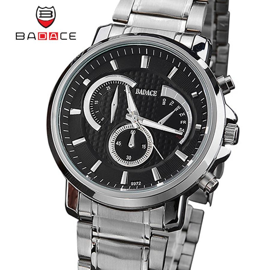 Design Business Clock Men Watches BADACE Brand Luxury Steel Stainless Male Wrist Quartz Sport Watch Relogio Masculino 9972