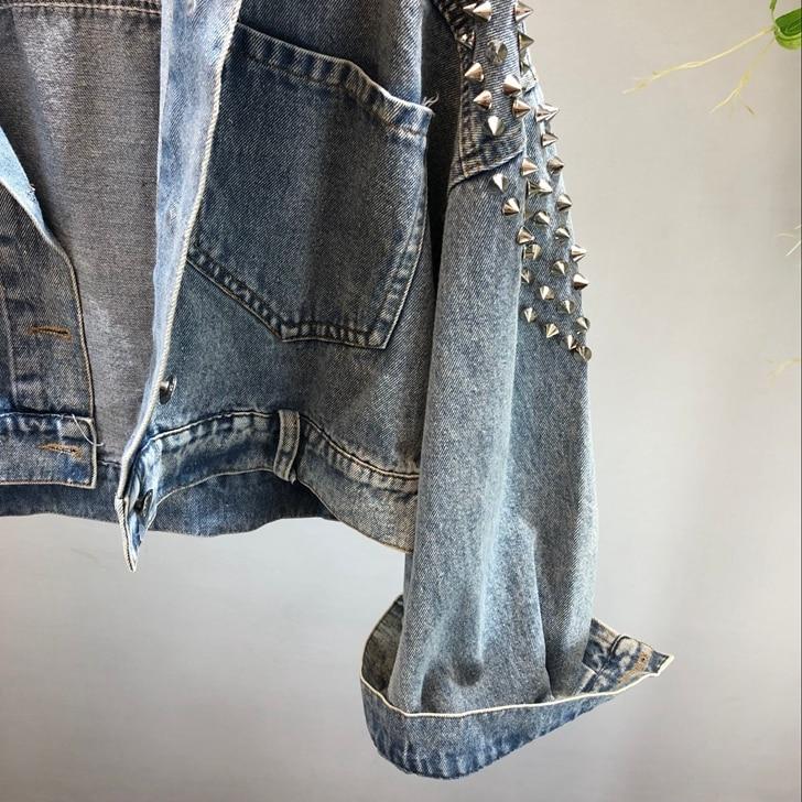 Vintage Manteau Style De Rivet Streetwear Denim 2018 778 Femmes Veste Mode Outwear Automne Jean Bf Y YI5wqRpzx