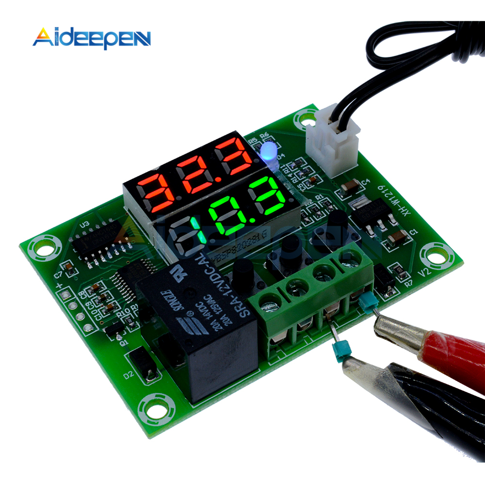 Dual LED W1209 XH-M452 DC 12V Temperature Controller Thermostat Red Probe Case