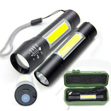 Mini COB LED Flashlight USB Rechargeable Led Lights USB Charging Torch Portable Lantern For Camping Fishing(China)