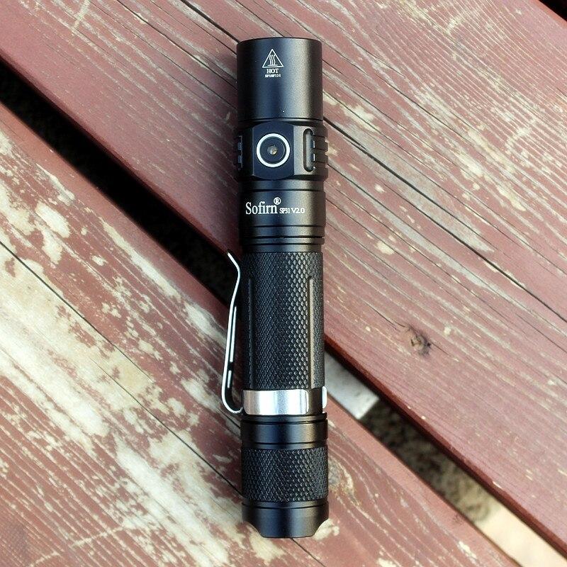 Image 2 - Sofirn sp31 v2.0 poderosa tactical lanterna led 18650 cree xpl hi  1200lm tocha lâmpada de luz com interruptor duplo indicador de  alimentação atrLanternas