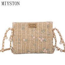 Fashion Women Hand-woven Straw Bag Ladies Shoulder Bags Bohemia Knitted Beach Crossbody Bags Travel Handbag Tote Bag