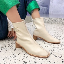 fashion square toe soft genuine leather ankle boots for women casual dress shoes boots women black shoes high heel runway boots msfair women boots 2018 hot selling crystal ankle boots women shoes pointed toe high heel boot shoes square heel boots for girl