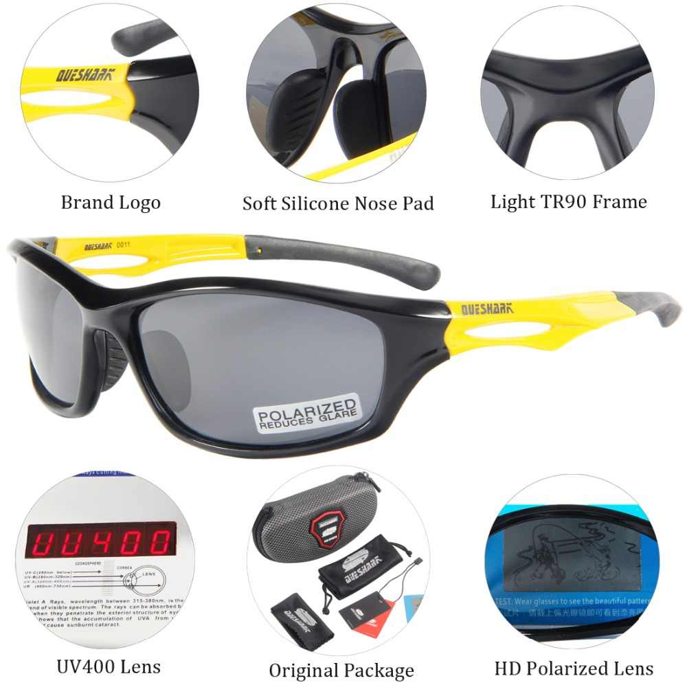 8ab00fc57a0 ... Queshark TR90 UV400 HD Men Women Polarized Cycling Sunglasses Bicycle  Sport Glasses Bike Goggles Climbing Hiking ...