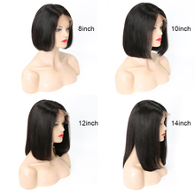 Glueless Short Bob Wigs Brazilian Straight Hair Deep Part Lace Front Human Hair Wigs For Black Women Remy 13×6 Lace Wig
