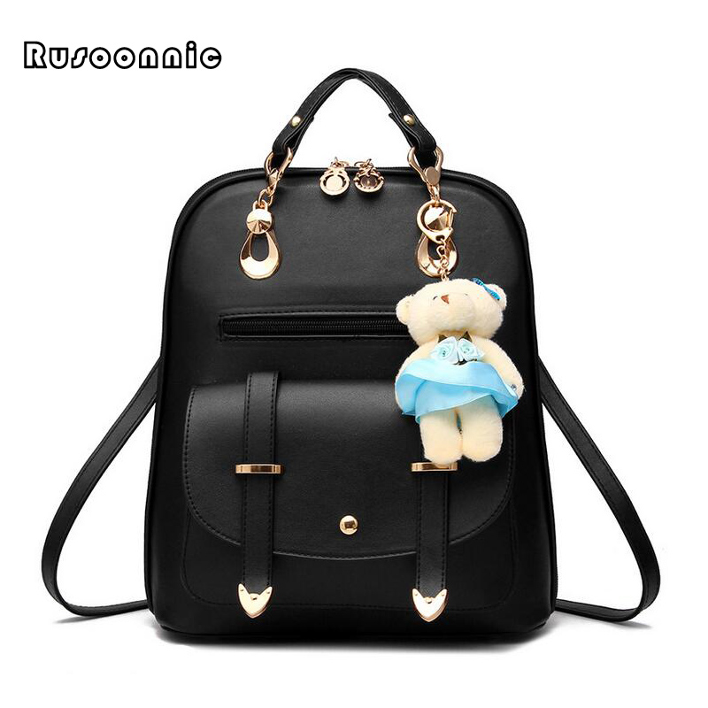 Leather Backpack Women Backpacks High Quality Pu Bagpack Mochila Feminina Leather Rucksack Female School BagsLeather Backpack Women Backpacks High Quality Pu Bagpack Mochila Feminina Leather Rucksack Female School Bags