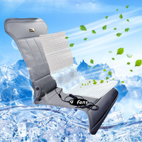 12v Pu Leather Cooling Fan Car Seat Covers Universal Cools Car Accessories Supplies Summer Fans Car