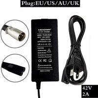 1 pc best price 36V 42V2A charger electric bicycle lithium battery for 3 pin pack XLR female / 100%