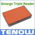Nueva Llegada-Smargo Triple Lector de Lector de Tarjetas Inteligentes USB Lectores de Tarjetas 3 en 1