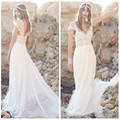 2016 fashion vestido de noiva court train long beach wedding dresses custom made beading crystal sashes tulle bridal dresses