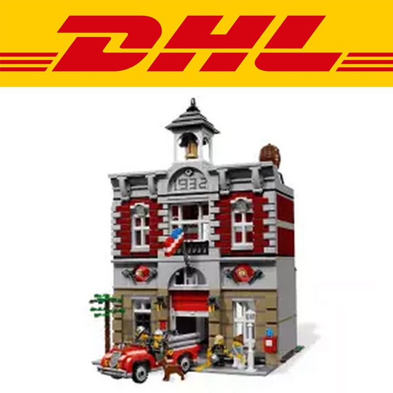 Lepin Model Doll House Building Kits 2313Pcs Blocks City Street Fire Brigade Educational DIY Compatible With Children TOY 10197 lepin 02012 city deepwater exploration vessel 60095 building blocks policeman toys children compatible with lego gift kid sets