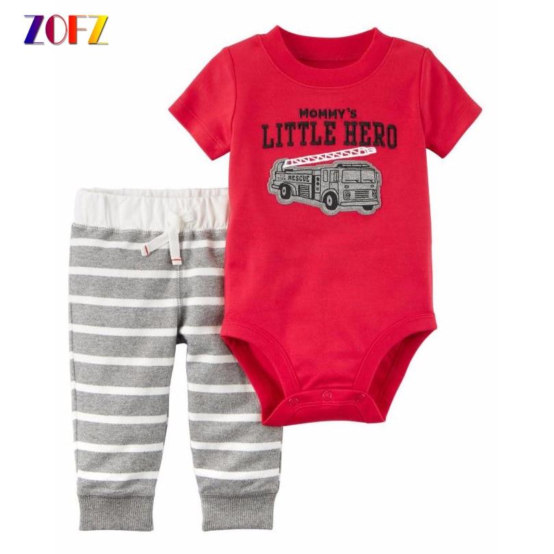 ZOFZ Baby Clothes 2pcs Boy Clothing Set O-Neck Regular Baby Boy Summer Clothing Fashion Cotton Baby Suit for Newborn Baby Boys zofz baby girl clothes baby set newborn