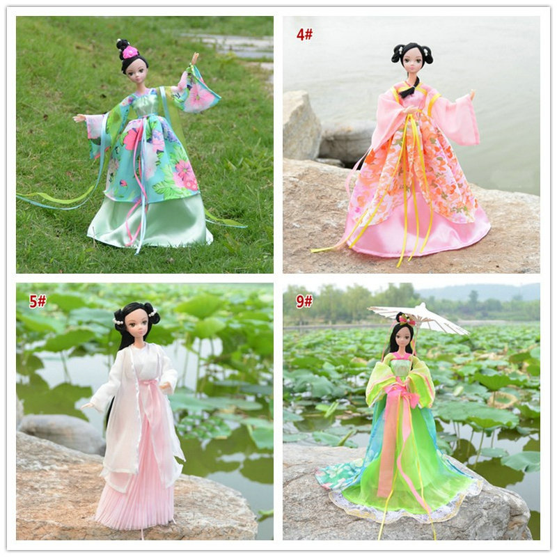 Chinese Elements Hand-made 1//6 Scale Ancient Female Soldier Dress Suit Model
