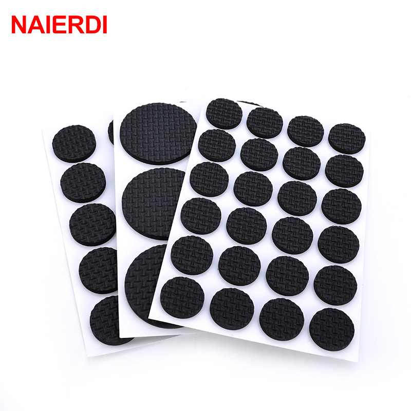 5Set NAIERDI 1-24PCS Self Adhesive Furniture Leg Feet Rug Felt Pads Anti Slip Mat For Chair Table Protector Hardware Accessories
