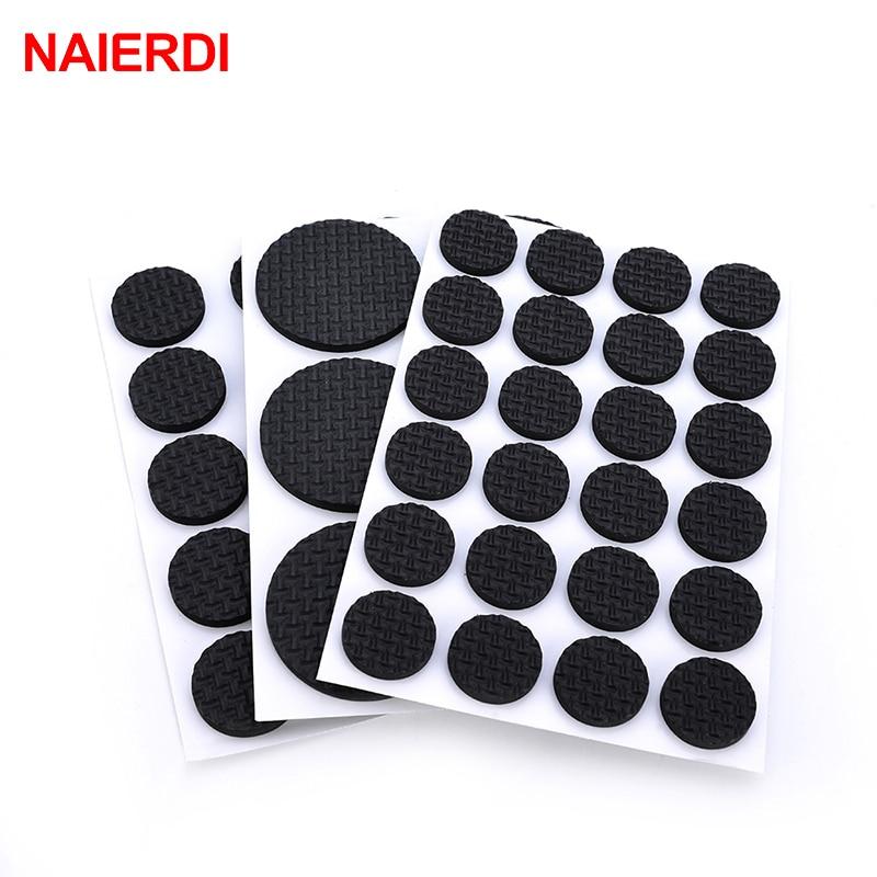 5 комплектов NAIERDI 1-24 шт., самоклеящаяся мебель, коврик для ног, войлочные прокладки, нескользящий коврик для защиты стула, стола, аксессуары