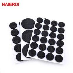 5Set NAIERDI 1-24PCS Self Adhesive Furniture Leg Feet Rug Felt Pads Anti Slip Mat For Chair Table Protector Hardware Accessories