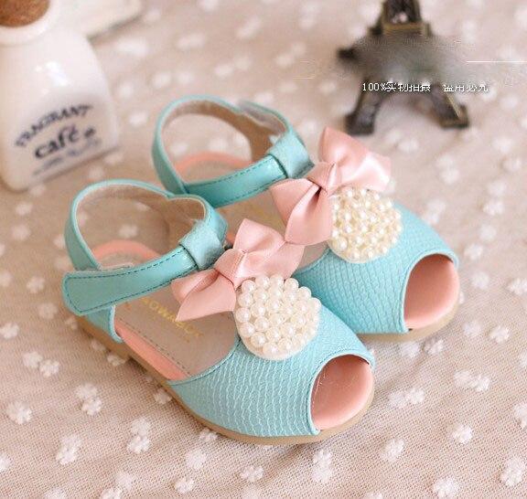 Обувь для девочек детские сандалии для девочек, украшенная бусинами и бантом, 21-25; девичьи туфли; 0904 sylvia 1239170562