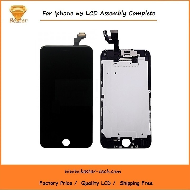 50 unids/lote teléfono de alta calidad lcd para iphone 6 pantalla lcd táctil dig