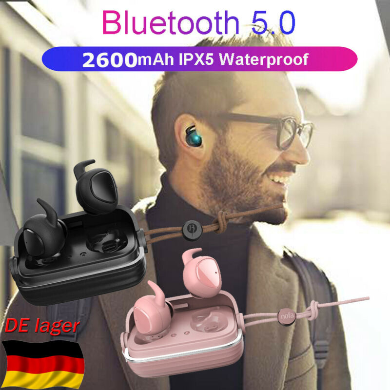 Mini Bluetooth Kopfhörer In Ohr Stereo Headset TWS Twins Kabellos Ohrhörer BT5.0