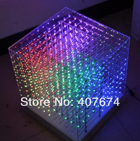 Provided 2pcs/lot New Smd0805 3in1 3d Led Cube Light With 20 Kinds 3d Animation Effects,support Edit By Pc,3d Led Display For Party,show Stage Lighting Effect