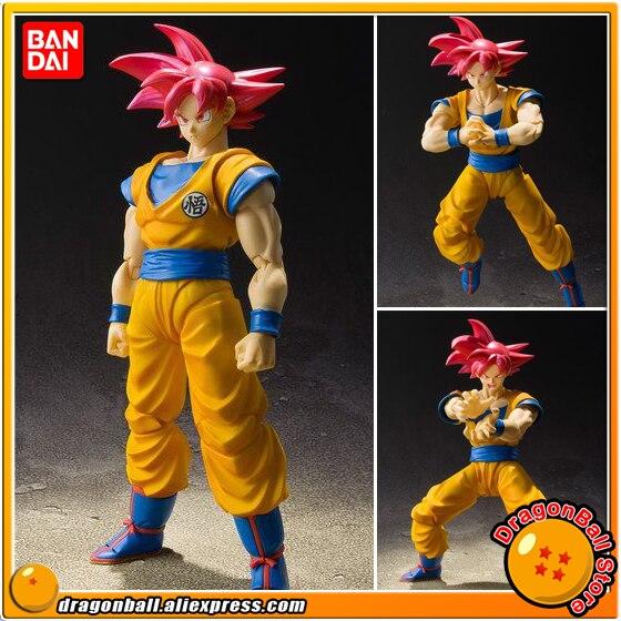 Dragon Ball супер оригинальные BANDAI Tamashii Наций S.H. Figuarts/СВЧ эксклюзивные фигурки Супер Saiyan Бог Сон Гоку