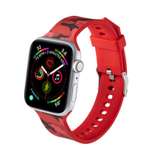Apple strap silicone 38mm 40mm iWatch 42mm 444mm camouflage printing casual sports fashion tide watch for Appl