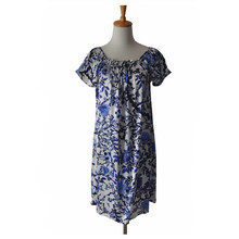 Free shipping 100% Pure Mulberry Floral Silk Nightgown Classic Nightwear Soft Sleepwear Summer Dress Multicolor Size
