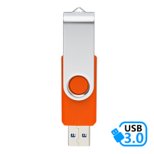 J-boxing Orange USB 3.0 Flash Drive 16GB Metal Rotating Memory Stick Pen 32GB 64GB Computer Tablet Mac