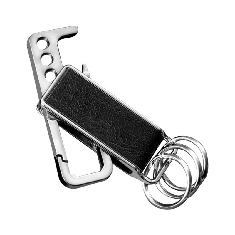 2018 Hot Sell Leather Metal Waist Buckle Rotatable Bottle Opener Tool Key Chains Ring Mens Keychain Metal Car Accessories
