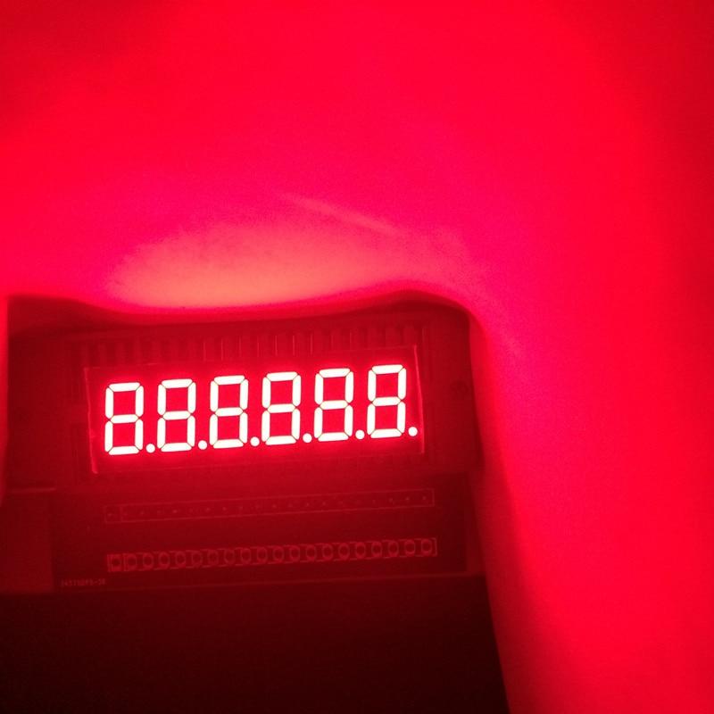 2pcs 7 Segment LED Display 0.36inch 6Bits Numbers LED Signs Cube Panel 7segmentos 0.36
