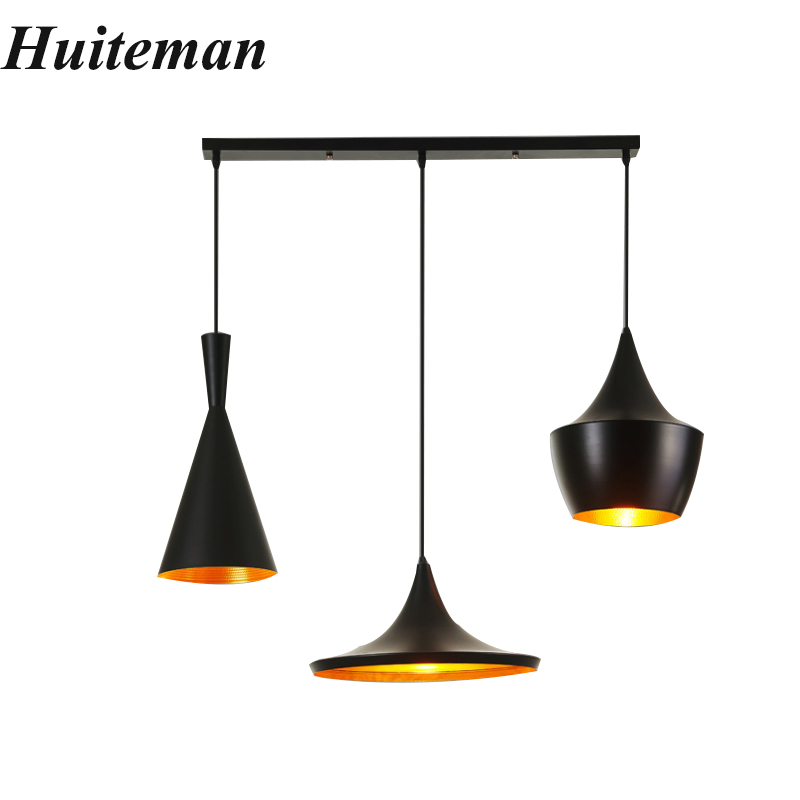 Vintage Pendant Lights Led Ceiling Tom Musical Instrument Pendant Lamps Home Bar Loft Restaurant Bedrooms Black Hanging Lighting