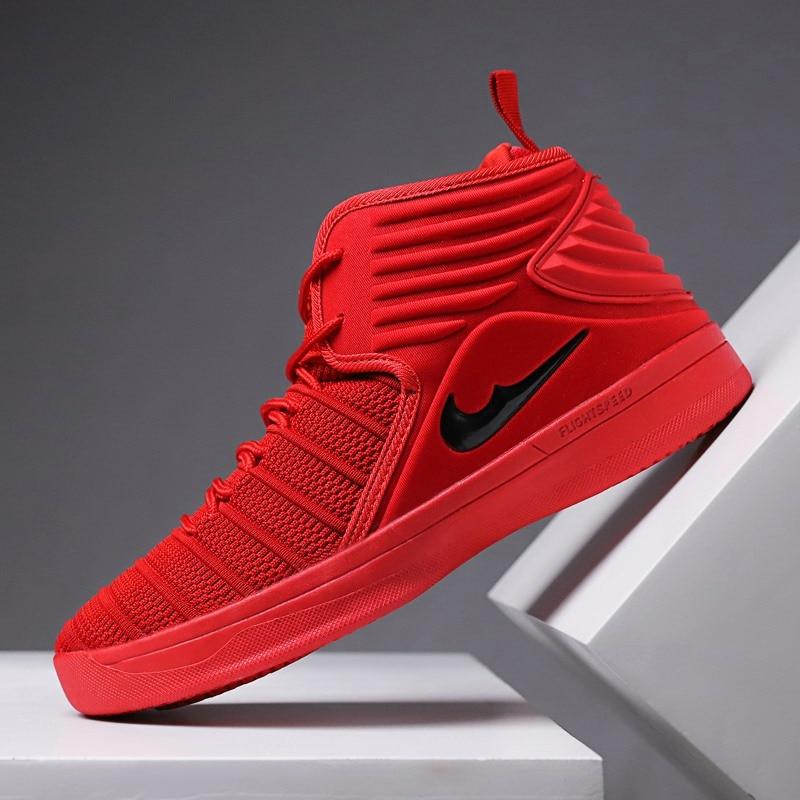 Basketball-schuhe Männer Basketball Schuhe Outdoor Sport Turnschuhe Sportlich Stiefel Lace Up Atmungsaktive Anti-schlupf Knöchel Stiefel Plus Größe Hohe Qualität