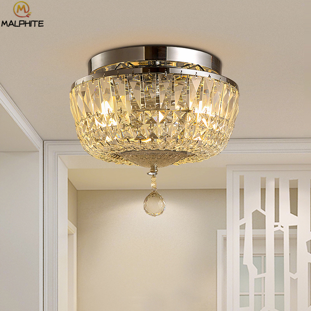 Nordic plating crystal Ceiling Lights  luster Modern Hanging ceiling Lamps Industrial decor lighting For Living Room luminaires