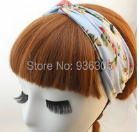 10 adet/grup Bohemian kumaş sanat büyük çiçekler çiçek kadın saç bandı Büküm Turban Bantlar Kadınlar Kızlar Için Saç Aksesuarları venda